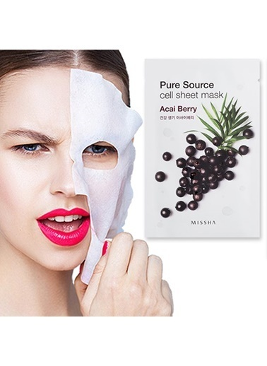 Missha Pure Source Cell Sheet Mask (Acai Berry) Renksiz